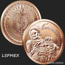 2018 Silver Shield Santa Slave 1 oz .999 Copper BU Round Bullion USA Made Coin