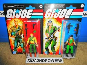 "G.I. JOE RETRO DUKE & LADY JAYE WALMART EXCLUSIVE ACTION FIGURE 3.75"" HASBRO"