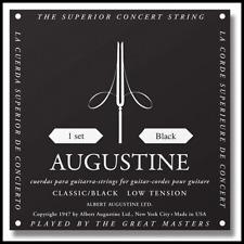 2 X Augustine Black Light Tension Classical Guitar Strings