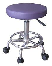 TABOURET A43P Violet A ROULETTES télescopique hauteur réglable