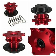 Car Steering Wheel Quick Release Hub Adapter Removable Snap Off Boss Kit Red  #
