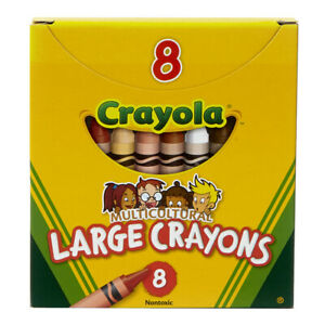 Crayola Multicultural Crayons, Large Size, 8 Count