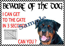 x BEWARE ROTTWEILER NOVELTY DOG SIGN