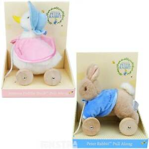 Peter Rabbit Pull Along   Jemima Puddle-Duck Pull Toys Beatrix Potter Baby Gifts