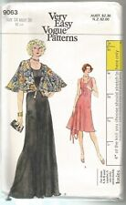 Vogue Sewing Pattern 9063, Vintage Dress and Capelet, Size 14 Bust 36, Uncut