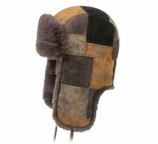 Stetson  Men's Pigskin Patchwork  Leather Trapper Hat