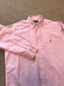 Vintage POLO by RALPH LAUREN Yarmouth Pink Oxford Cotton Shirt 15 / 33