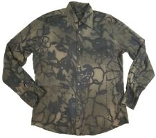 460bf1bf525 Gucci Mens 41/16 Shirt Black Floral Button Down Light Weight Long Sleeve  Flower