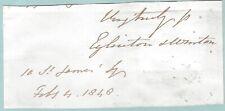 More details for earl of eglinton & winton - of eglinton tournament fame - 1846 end letter