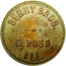 1934 El Paso Illinois Good For Token Berry Brothers Denom Not On TC Unl Merchant