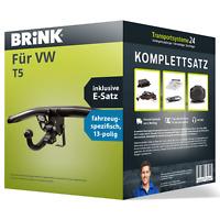 Anhängerkupplung BRINK abnehmbar für VW T5 +E-Satz NEU ABE PKW
