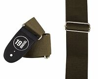 GREEN simple Guitar Strap double sided class folk jazz style 3082 soft cotton