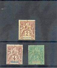 REUNION Sc 35-7(YT 33-5)*F-VF HR IOR LH 1892 2c,4c,5c VALUES $26