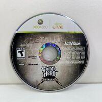 Guitar Hero: Metallica (Microsoft Xbox 360, 2009) Disc Disk Only TESTED! DA92984