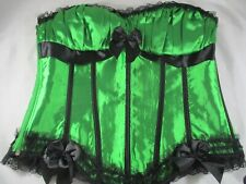 Ladies Boned Corset Size 2XL (Australian size 12-14) Green and Black. Never worn