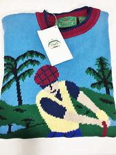 New with Tags Vintage ARROW GOLF Sweater Jumper Golf Scene Sz Medium