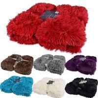Luxury Long Pile Throw Blanket Super Soft Faux Fur Warm Shaggy Cover 150x200cm