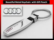AUDI A1, A3, A4, A5, A6, Q3 Metal KeyChain NEW Stylish Keyring with Gift Pouch