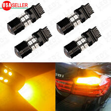 4 x 3157/3156 High Power Yellow Brake/Stop/Tail/Turn Signal LED Light Bulbs
