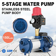 Multi Stage Water Pump High Pressure Rain Tank Garden House Irrigation 1800W