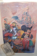 "Signed Original Print Authentic ""Five Years of Happiness"" 5th Ann Tokyo Disneyla"