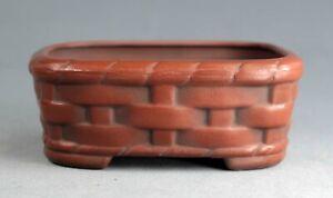 Tokoname Rect. Bonsai Pot by Bigei, #bigei15, 100*82*H38mm