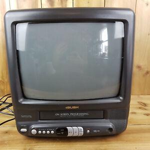 "Bush 14"" Vintage Gaming CRT TV VHS Combi Player BTV17 A Black Tested Retro"