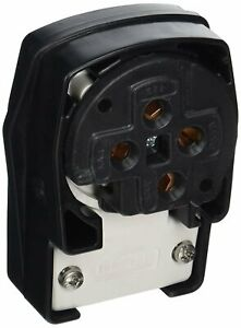 Hubbell HBL8462C Plug, 3 Pole and 4 Wire, 60 amp, 3 Phase-250V, 15-60P, Black