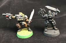 2 Space Wolf Scouts Metal Pewter Wolves Marines