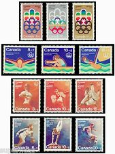 SUPERFLEAS 1974-6 Complete Canadian Montreal Olympics set 12 MNH postage stamps
