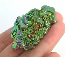 145.8Ct Rainbow Bismuth Crystal Mineral Specimen Rough Heated YBK17