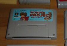 GAME/JEU SNES KONAMI SUPER NITENDO JAPANESE SHVC-APJJ-JPN WONDER PROJECT J JAPAN