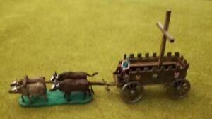 Reliquienwagen mit 4 Ochsen für Elastolin 4cm