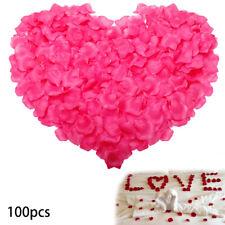 100pcs Hot Pink Red Ivory Sky Blue Lila Rose Flower Petels Home Wedding Decor