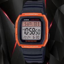 Casio W96H-4A2V Men's Digital Watch Black and Orange Sport 10 Year Battery New