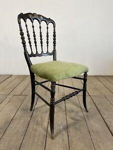 19th Century Antique French Napoleon Ebonised Chair