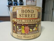 VINTAGE BOND STREET PIPE TOBACCO TIN BLUE PRY LID LEV A LIFT PRY PULL