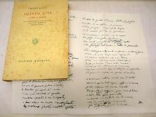 PAPINI - Majolo, OLINTO DINI UOMO E POETA 1962 Rassegna dedica autografa ed num