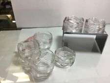 "3 Duncan & Miller Clear Caribbean Coaster / Ashtray 2 3/4"" + 3 Punch Cups"