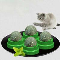 Wall Mount Cat Snack Catnip Ball Lick Solid Nutrition Ball Help Digestion C #mi