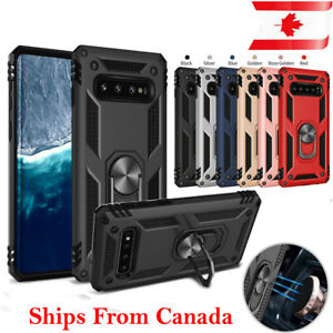 For Samsung Galaxy S9 S10e S10 S10+ Plus Case Heavy Duty 360 Magnetic Ring Cover