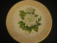 The Edward Marshall Boehm Rose Plate Collection The White Masterpiece Rose Plate