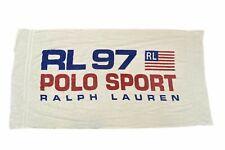Rare Vintage RALPH LAUREN Polo Sport 1997 RL USA Flag Bath Beach Towel 90s White