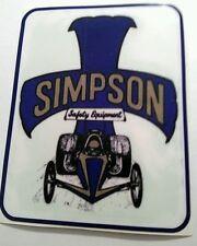 Simpson sticker decal hot rod rat rod vintage look drag race
