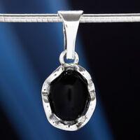 Onyx Silber 925 Anhänger Sterlingsilber Damen Schmuck A0543
