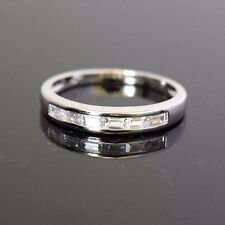 Size 9 18k White Gold Filled Mens/Womens Band Rings CZ Charm GF Fashion Jewelry