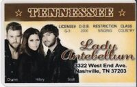 Country Music Drivers License  - fun fake i.d. card - Nashville TN , Tenneessee