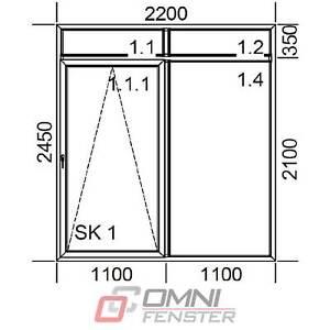 Tür Balkontür PVC Schiebefenster 2200 x 2450 mm Terrassentür auf Maß Fenster
