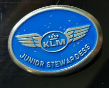 "Vintage Metal KLM  ""JUNIOR STEWARDESS""  Badge Netherlands  Airlines"