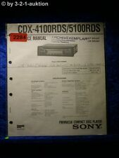 Sony Service Manual CDX 4100RDS / 5100RDS (#2284)